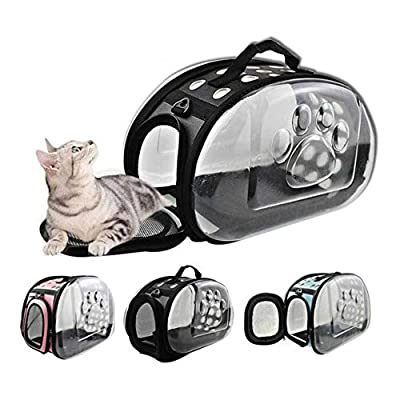 Artbro Transparent Outdoor Pet Carrier/Cat Travel Bag/Breathable and Light Weight for Cat, Dog, Rabbit and Other Small Medium Sized Pets from Artbro