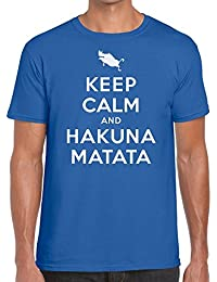 Funky NE Ltd Keep Calm and Hakuna Matata - Lion King Inspired Tshirt - 100% Cotton - Small to XXL - 10 Colours - Great Gift Idea by
