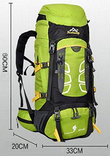 NEWZCERS 55L Impermeabile Borsa Sportiva Durevole Sportiva Trekking Camping Escursionismo Zaino di Viaggio Zaino da Montagna Confezione da Arrampicata orange