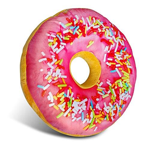Adkwse Donut Kissen,Zierkissen, Soft Sitzkissen,Kopfkissen, Kuschelkissen,Dekokissen, Sofakissen, Plüschkissen, Weich,Flauschig-für Jede Gelegenheit Dekorative Kissen (Rosa)