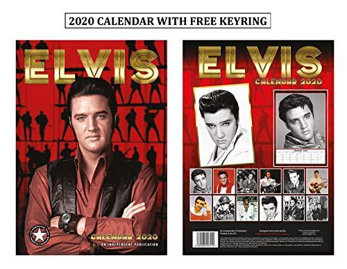 Elvis Presley Kalender 2020 + Elvis Presley Schlüsselanhänger -