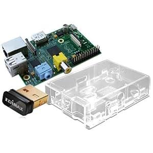 Raspberry Pi Starter Kit - Pi Board+Case+Wifi Wlan Adapter Mini PC-System/Mediaplayer