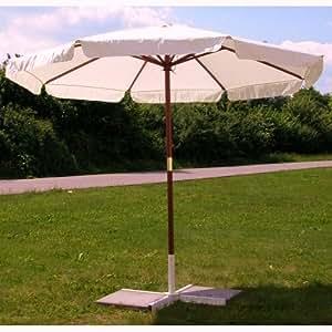 parasol 3 m powerbuy24 parasol avec armature en bois dur. Black Bedroom Furniture Sets. Home Design Ideas