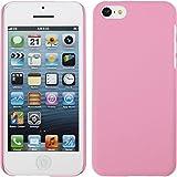 PhoneNatic Coque Rigide pour Apple iPhone 5c - gommée rose - Cover Cubierta + films de protection