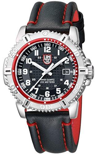 Luminox a6265Mariner para hombre reloj redondo cuarzo negro dial acero inoxidable caso