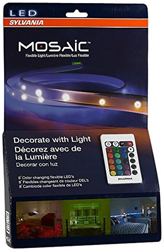 Sylvania LED RGBW Color Changing Strip Lights RGBW Mosaic Flexible Starter Kit with Remote Control, 2-Feet LED Light Strips by Sylvania