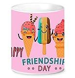 Jikraa Pink Friendship Day Coffee Mug Multicolor 350 ml