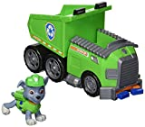 PAW PATROL Playset Veicolo DUMP TRUCK di ROCKY Con Personaggio - ORIGINALE Spin Master Basic Vehicle