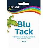 2 x Bostik Blu-tack Mastic Putty Adhesive Non-toxic White 60g Ref 801127 by Bostik