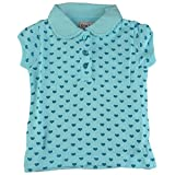 #6: Bio Kid Fashionable Collar Tee - Turquise Print - 1 Ps Pack (9 - 12 Months)