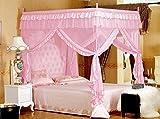Vier Eckpost Bett Baldachin Vorhang Moskitonetz Schlafzimmer Kinderzimmer Zimmer Prinzessin