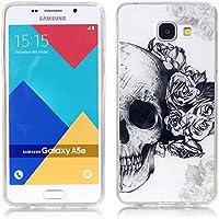 Galaxy A5 2016 Coque , YIGA Fleur Crâne Transparent Silicone Doux TPU Housse Gel Etui Case Cover pour Samsung Galaxy A5 2016 A510 ( pas pour Samsung Galaxy A5 2015 )
