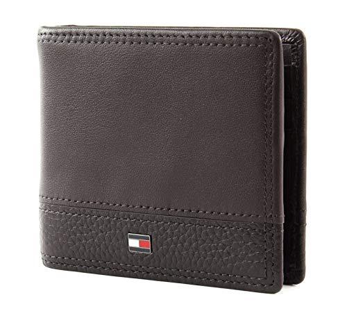 Tommy Hilfiger Th B Mini Cc Wallet Money Clip - Portafogli Uomo, Beige (Testa Di Moro), 1x1x1 cm (W x H L)