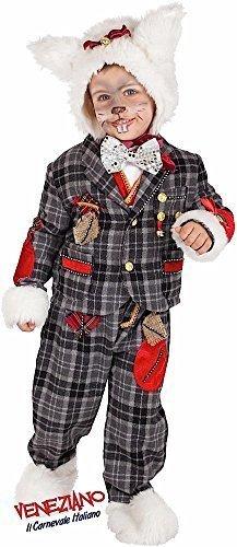 Italienische Herstellung Baby, Kleinkinder &ältere Jungen Deluxe weißen Kaninchen Alice im Wunderland Film Cartoon Schulbuch Tag Woche Halloween Kostüm Kleid Outfit 1-6 Jahre - Weiß, 3 Years