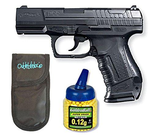 Umarex Outletdelocio U25543. Pistola Airsoft Walther P99. Calibre 6mm. + Funda portabalines + 1000 balines
