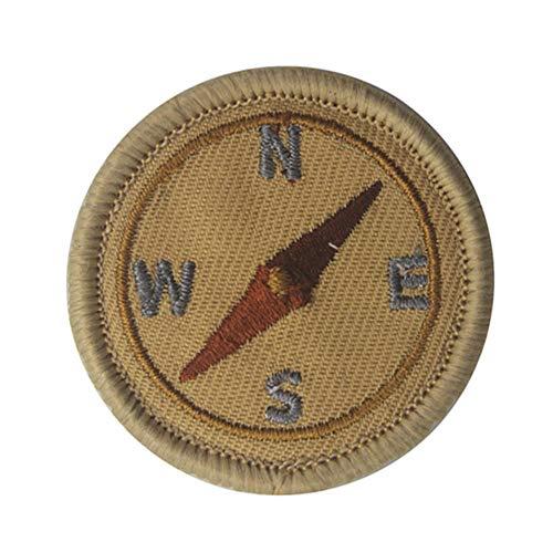 YA-Uzeun Aufnäher zum Aufbügeln von American Boy Scout Muster Kleidung Patches Stickerei, grün, compass (Kleidung Puzzle-stück)
