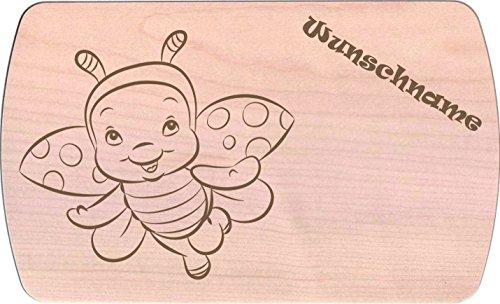 Farbklecks-Collection Frühstücksbrettchen - Marienkäferchen 4