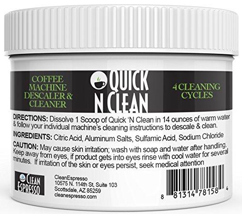 Nespresso Máquina descalcificador y limpiador por Quick 'n limpio (4usos,...