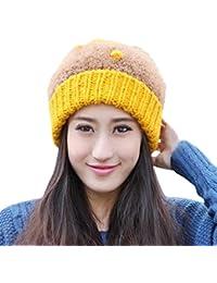 Smarstar Dame Hiver chaud tricot crochet Slouch Baggy Beret Bonnet Cap Bonnets pour femme-Taille Unique