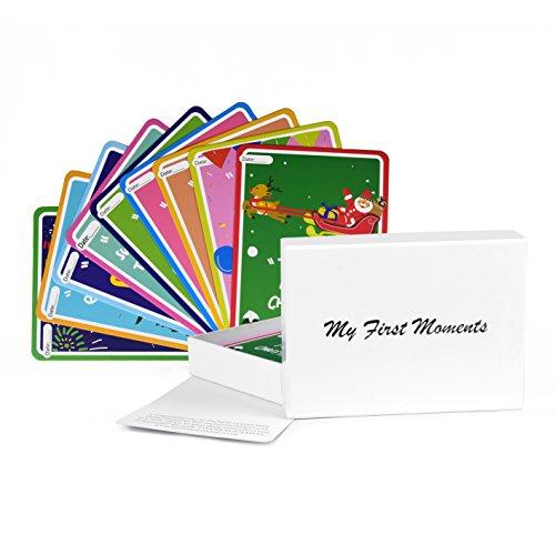My First Moments Perfekte Baby Baby Landmark Karten 38niedlich illustrierten Karten Milestone Baby Cards, perfekt für Baby-Duschen Geschenke und Presents Baby Milestone Karten (Baby-dusche-geschenk-karte)