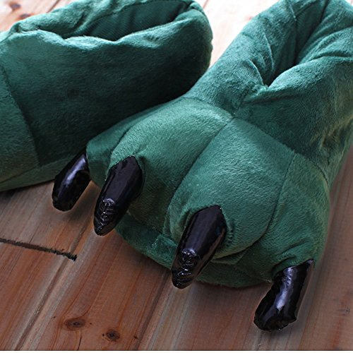 SED Claw Schuhe Unisex Pyjamas Plüsch One Piece Cosplay Tier Kostüm Matching Schuhe,Grün,31-38