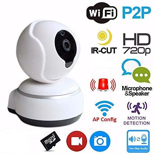 eless WiFi IP-Kamera, 720P Home Safety Surveillance Eingebautes Mikrofon und Lautsprecher mit Zwei-Wege-Audio-Unterstützung Bewegungserkennung Alarm Pan und Tilt ()