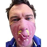 VORCOOL Lattice maschera di protezione mezza per film costume travestimento Halloween (moccio)