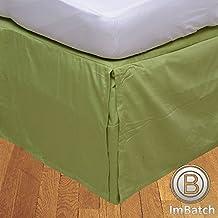 300hilos 100% sólido de algodón egipcio elegante acabado 1pieza faldón plisado de caja (longitud de la gota: 53,34cm), algodón, Sage Solid, EU King Ikea
