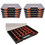 Sortierbox Sortimentskasten NORS16 im 10er SET Maße ca.399 x 303 x 50 mm Schraubenbox Schrauben Sortierbox Schraubensortierbox Schraubenkoffer Sortierkoffer Organizer mit 26 variablen Einteilern