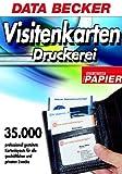 Visitenkarten-Druckerei m. Papier, CD-ROM 35.000 professionell gestaltete Kartenlayouts für alle geschäftlichen und privaten Zwecke. Für Windows 95/98SE/ME/NT4(SP6)/2000/XP. Inkl. 200 hochwertigen Visitenkarten
