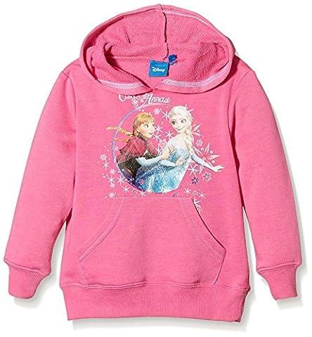 Disney Girl's Frozen Long Sleeve Sweatshirt, Pink (Sugar Plum), 4 Years