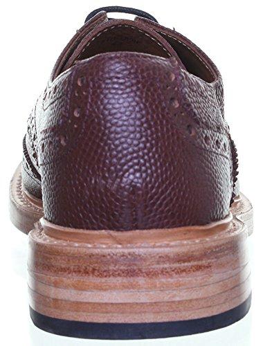 Reece Justin Dylan renforcées en cuir GoodYear mat pour chaussures Rouge - Bordeaux JL25