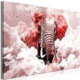 murando Bilder Elefant 120x80 cm - Leinwandbild - 1 Teilig - Kunstdruck - Modern - Wandbilder XXL - Wanddekoration - Design - Wand Bild - Himmel g-C-0087-b-d