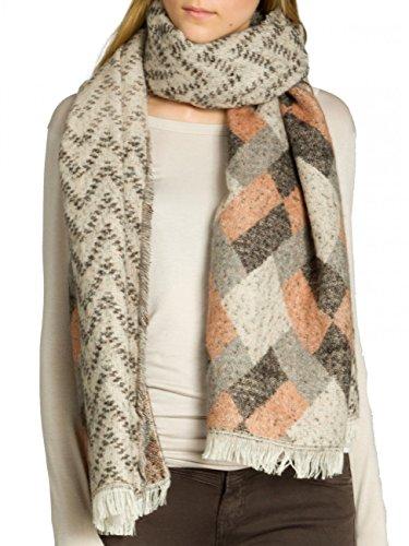 CASPAR SC463 Damen warmer XXL Schal mit lässigem Karo Muster, Farbe:grau-schwarz-beige-rost;Größe:One Size - Rost Farbe, Teppiche