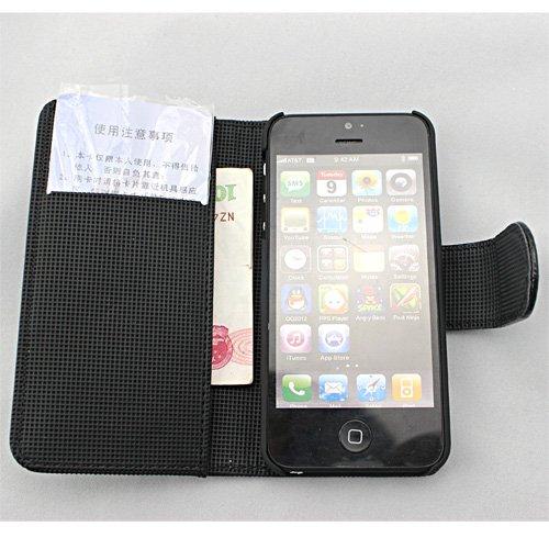 Webkaufhaus24 Étui de protection à rabat en cuir impression crocodile pour iPhone 5 Landkarte gelb blanc
