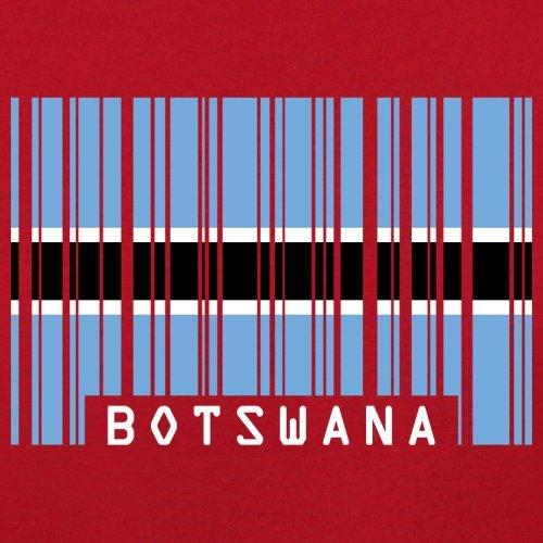 Botswana / Republik Botswana Barcode Flagge - Herren T-Shirt - 13 Farben Rot