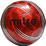 Mitre-Laser-Chrome-Soccer-Ball,-Red,-Size-5,-5/Red