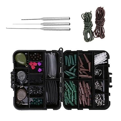 Gazechimp 162 pcs Boîte de Rangement à la Pêche avec Tackle Clips de Sécurité Plomb Rapide Anti-tanging