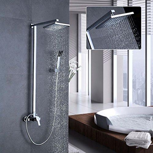 Auralum® 8 Zoll Duschkopf Regendusche Regenduschkopf Duschsystem Regenbrause Wasserfall