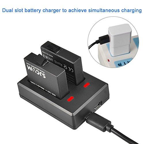 SJCAM-M20-Battery-Charger-2-Slot-USB-Charger-2-Batteries-SJ7-Star-SJ6-Legend-Backup-Charger-Original-Action-Camera-Charger
