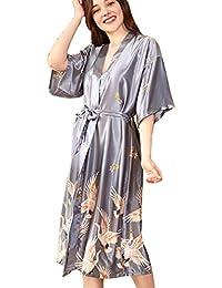 6ffaea7cc4 BOYANN Vestaglie e Kimono Pigiami e Camicie da Notte Donna Accappatoi Grigio