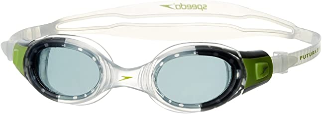 Speedo Futura Biofuse Swimming Goggles, Kids Free Size (Green/Clear)