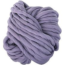 Yunt - Ovillo de lana gruesa de 250 gramos, hilos para tejer bufanda, gorro