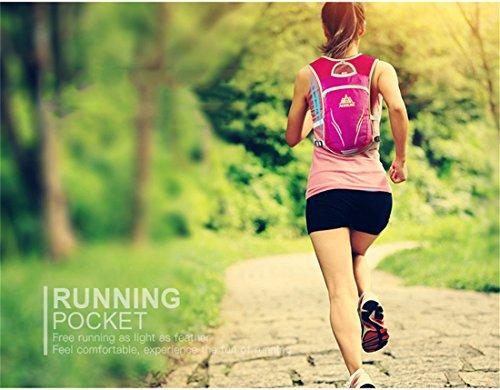 Imagen de aonijie unisex 5.5l running race chaleco de hidratación sistema de hidratación , rose red m/l alternativa