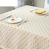 LILILI Einfache Tabelle Tuch, Baumwolle Bettwäsche Tischdecke, quadratische Tuch Tuch, Tv runden Nachttisch Tücher - 140 x 140 cm (55 x 55 Zoll)