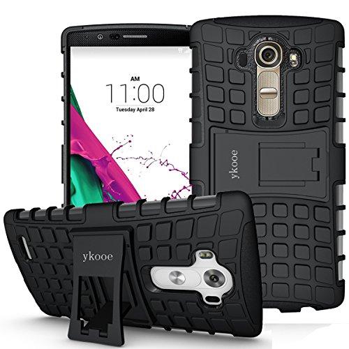 ykooe Handys Schutzhülle Ständer für LG G4 Hülle Schwarz 5.5 Zoll