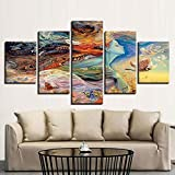 juntop Cuadros modulares 5 Panel de Pintura de la Lona Abstrato Imagen de Arte de Pared Imagen de Decoración...