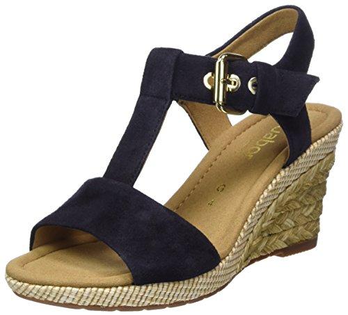 Gabor Shoes Gabor Basic, Sandalia con Pulsera para Mujer, Azul (Nightblue/Ocean), 42.5 EU