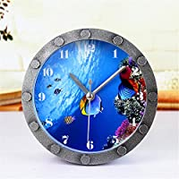 Preisvergleich für DIDADI Alarm clock Stilvoll kreative Unterwasserwelt Fische kleine Wecker 12 cm Desktop Agents, der Leiter der