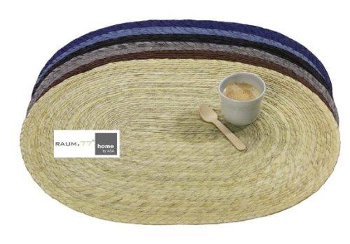 Tischset oval geflochten 46 x33 cm - Ovale Palmenblatt